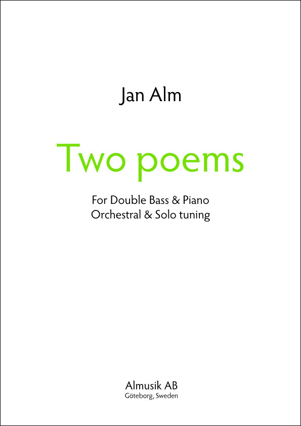 Jan Alm 'Two Poems' cover