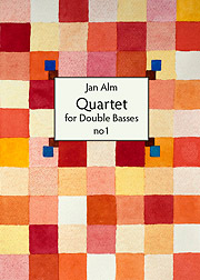 Jan Alm Quartet for double basses no 1 Cover